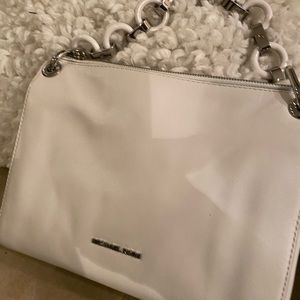 White Michael Kors small/medium handbag